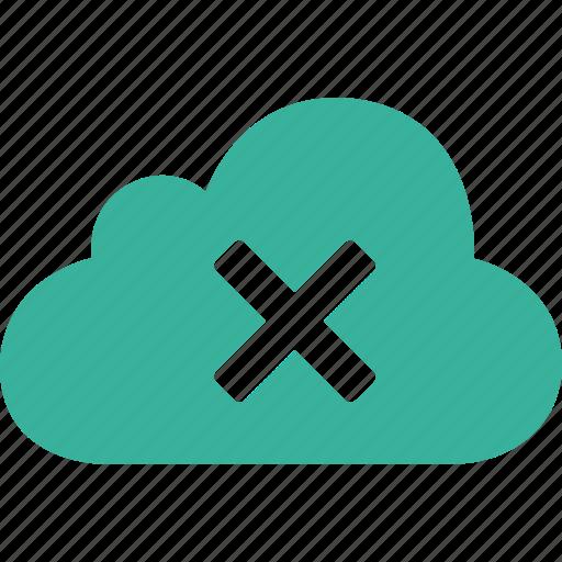 cancel, close, cloud, cross, delete, remove, trash icon