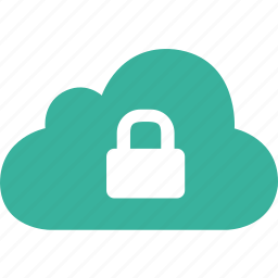 cloud, lock, password, protect, safe, secure icon