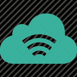 cloud, gps, internet, network, signal, wifi, wireless icon