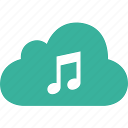 audio, cloud, media, music, song, speaker, volume icon