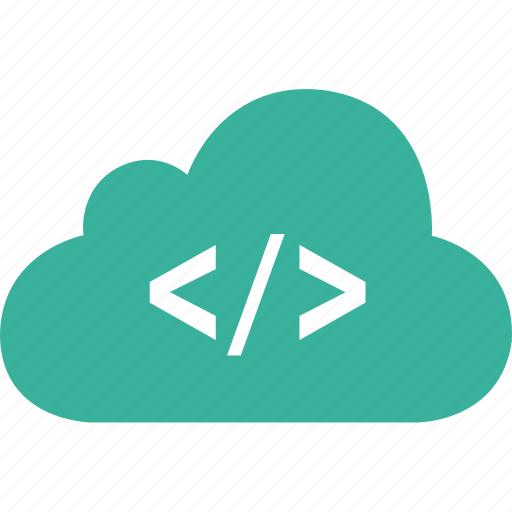 cloud, code, html, markup icon