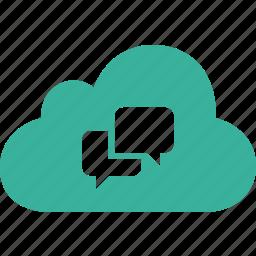 bubble, chat, cloud, communication, message, talk icon