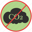 cloud, co2, energy, gas, gas emissions, green icon