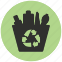 alternative energy, buttle, energy, green, recycling, trash bin, trash can icon