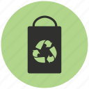 alternative energy, bag, energy, green, paper bag, recycle, recycling icon