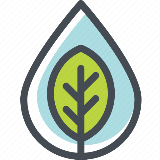 ecology, energy, green, leaf, water, watershed, wild icon