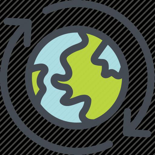 ecology, energy, globe green, green, logistics, oxygen, ozone icon