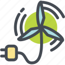 ecology, energy, green, plug, windmill, windturbine icon
