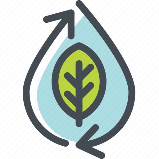 ecology, energy, environment, green, leaf, recycle, water icon