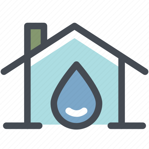 drop water, eco, ecology, energy, green, home, water house icon