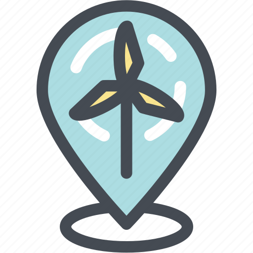 ecology, energy, location, mill, pin, windmill, windmill location icon