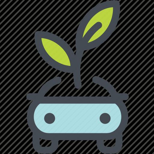 eco car, ecology, energy, environment, green, vehicle icon