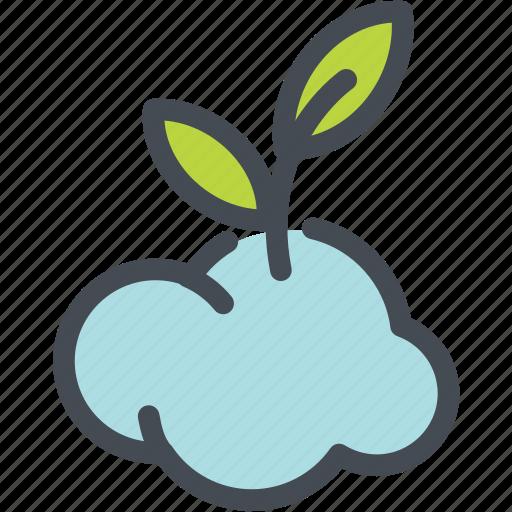cloud, ecology, globe green, green, leaf, oxygen, ozone icon