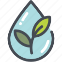 ecology, green, green tea, leaf, water, watershed, wild icon