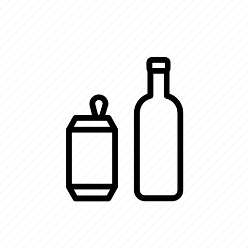 bottle, can, environment, glass, recycle, recycling icon