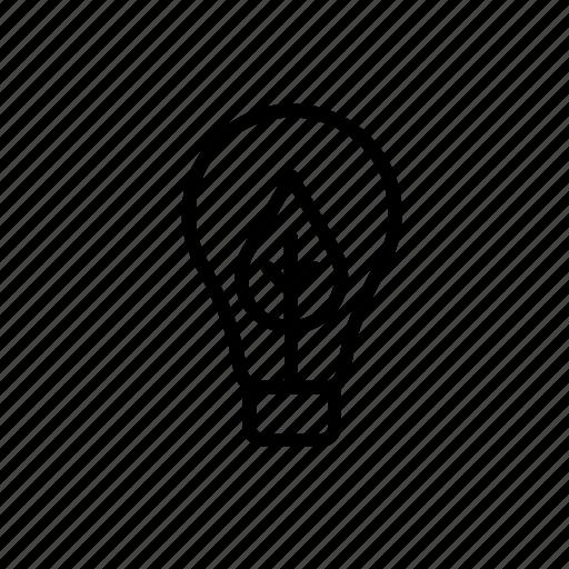 bulb, environment, green issues, leaf, light, lightbulb, nature icon