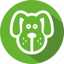 animal, dog, feeds icon