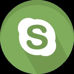 logo, media, network, skype, social icon