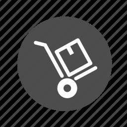 box cart, carretilla, cart, ecommerce, handcart, shopping, stock icon