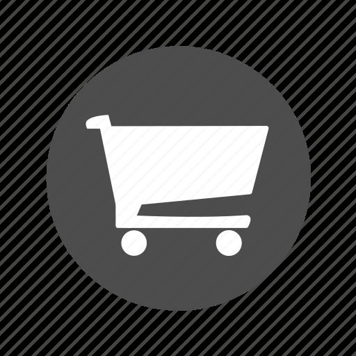 basket, carrito, cart, circle, circular, shop, shopping cart icon