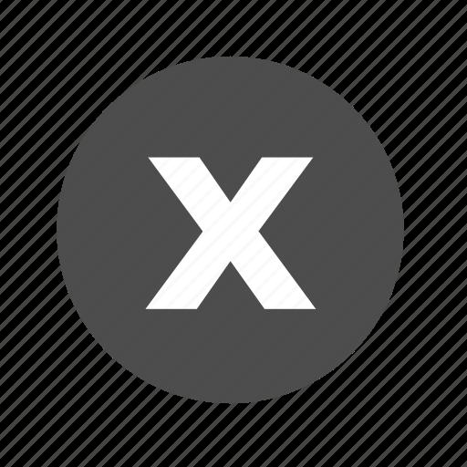 cancel, check, close, delete, exit, no, remove icon