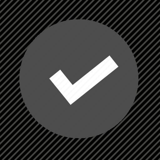 accept, approve, check, checkmark, confirm, ok, tick icon