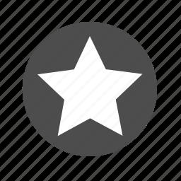 achievement, badge, bookmark, circle, favorite, medal, star icon
