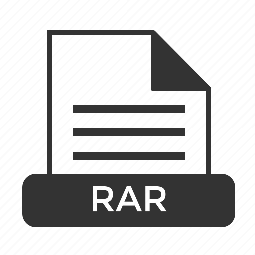 archive, compressed, file, format, rar icon