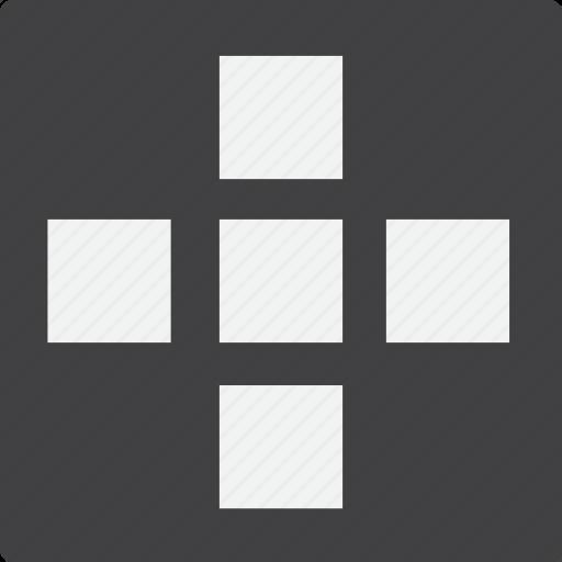 add, blocked, grid icon