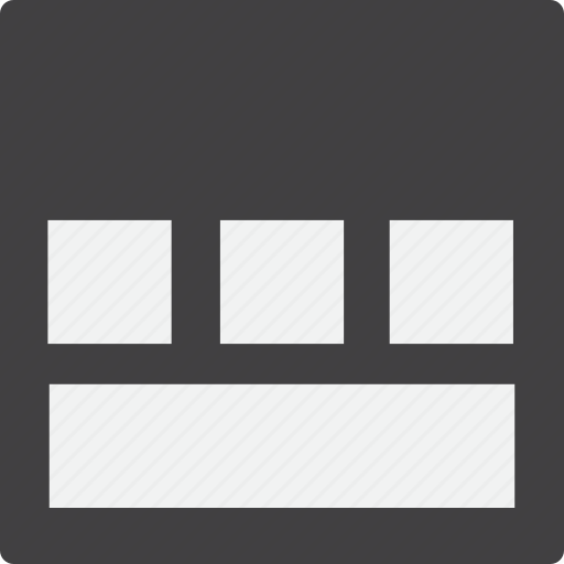 content, footer, full, grid icon