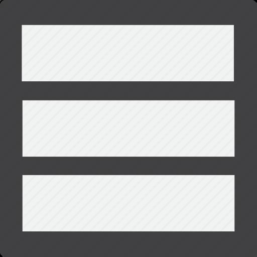 grid, hamburger icon