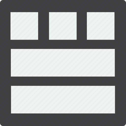 content, footer, full, grid, header icon