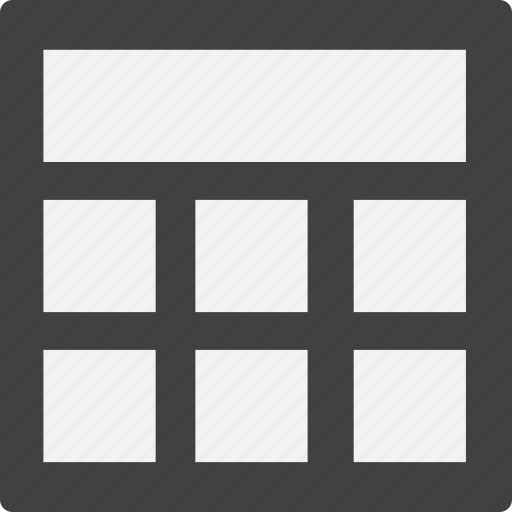 full, grid, header icon