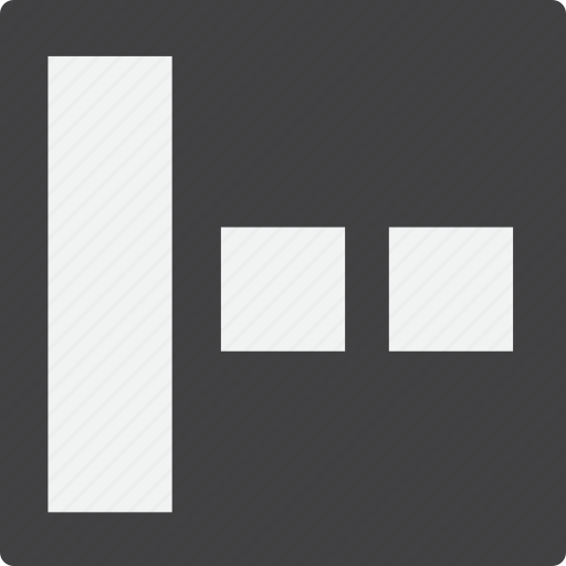 content, grid, left, sidebar icon