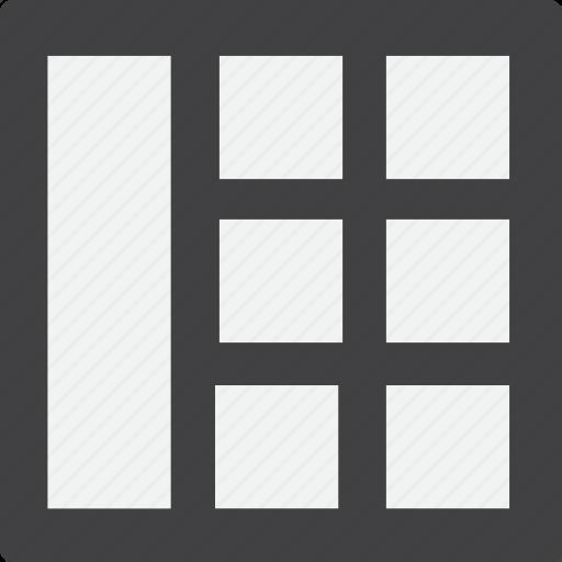 full, grid, left, sidebar icon