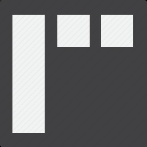 grid, header, left, sidebar icon