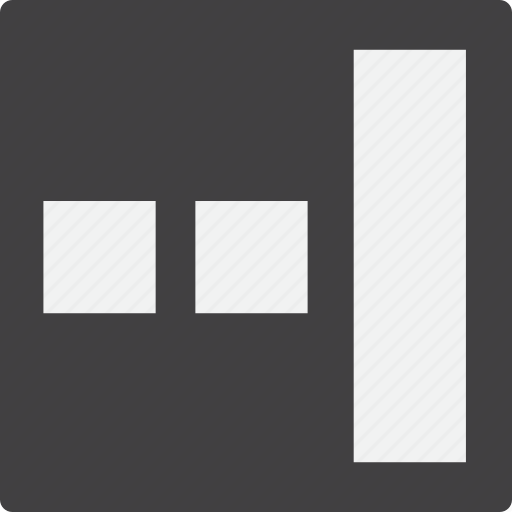 content, grid, right, sidebar icon