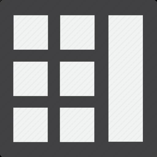 full, grid, right, sidebar icon