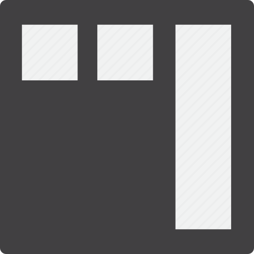 grid, header, right, sidebar icon