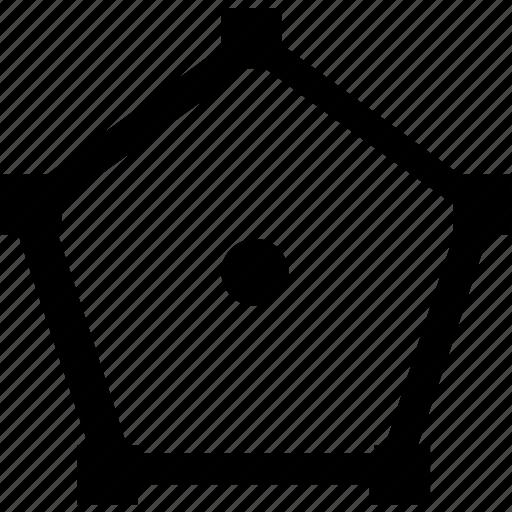 curve, figure, form, geometry, pentagon icon