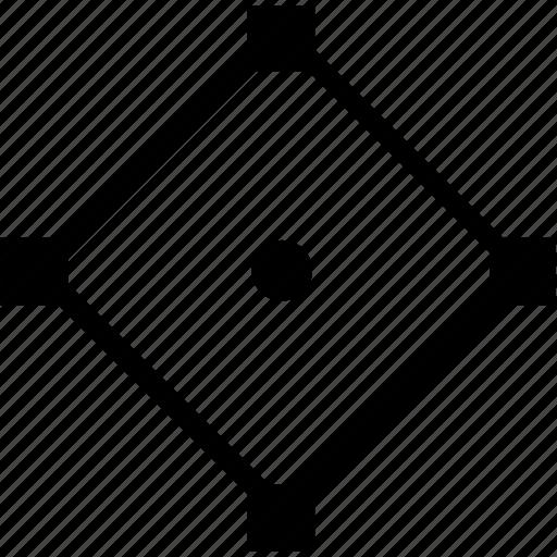 curve, figure, form, geometry, rombus icon