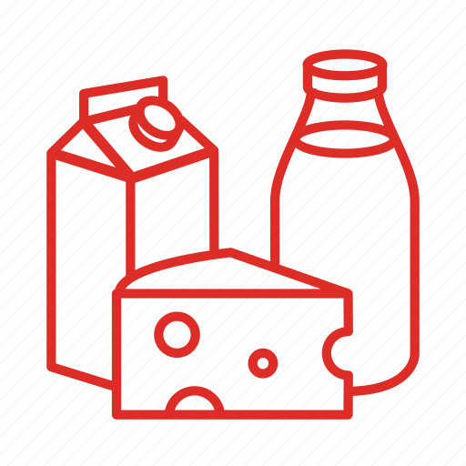 cheese, dairy, drink, food, glass, groceries, milk icon