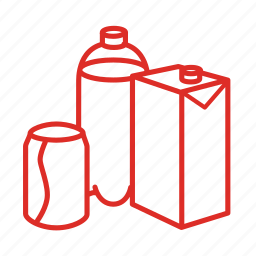 bottle, can, drink, groceries, juice, soda, water icon