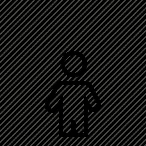 dwarf, lilliputian, line, man, midget, person, small icon