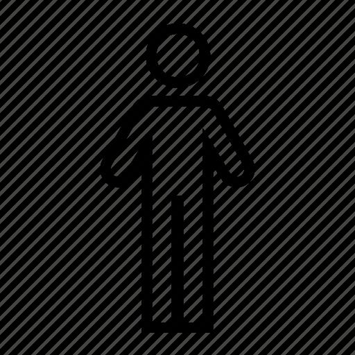 big, line, man, person, tall icon