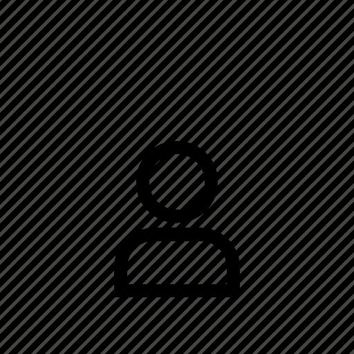 account, avatar, line, login, person, profile, user icon