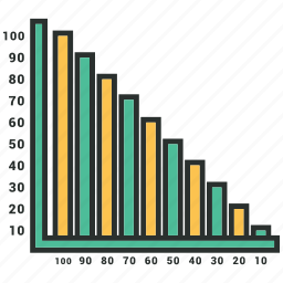 analytics, bar chart, bar graph, business graph, infographic icon