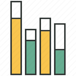 bars, data, infographic, information icon