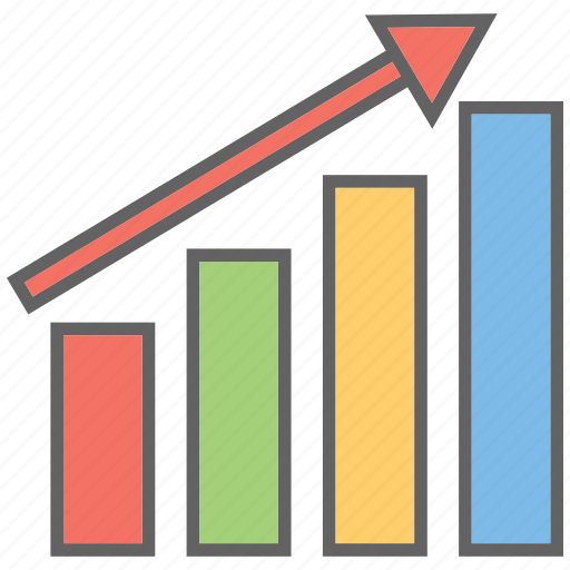 business growth, chart, finance, growth chart icon