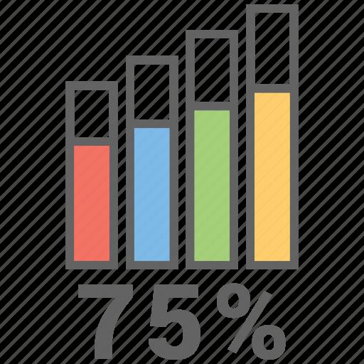 chart, money, report, results, seventy five icon
